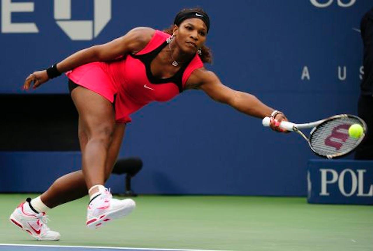Serena Williams in actie. EPA