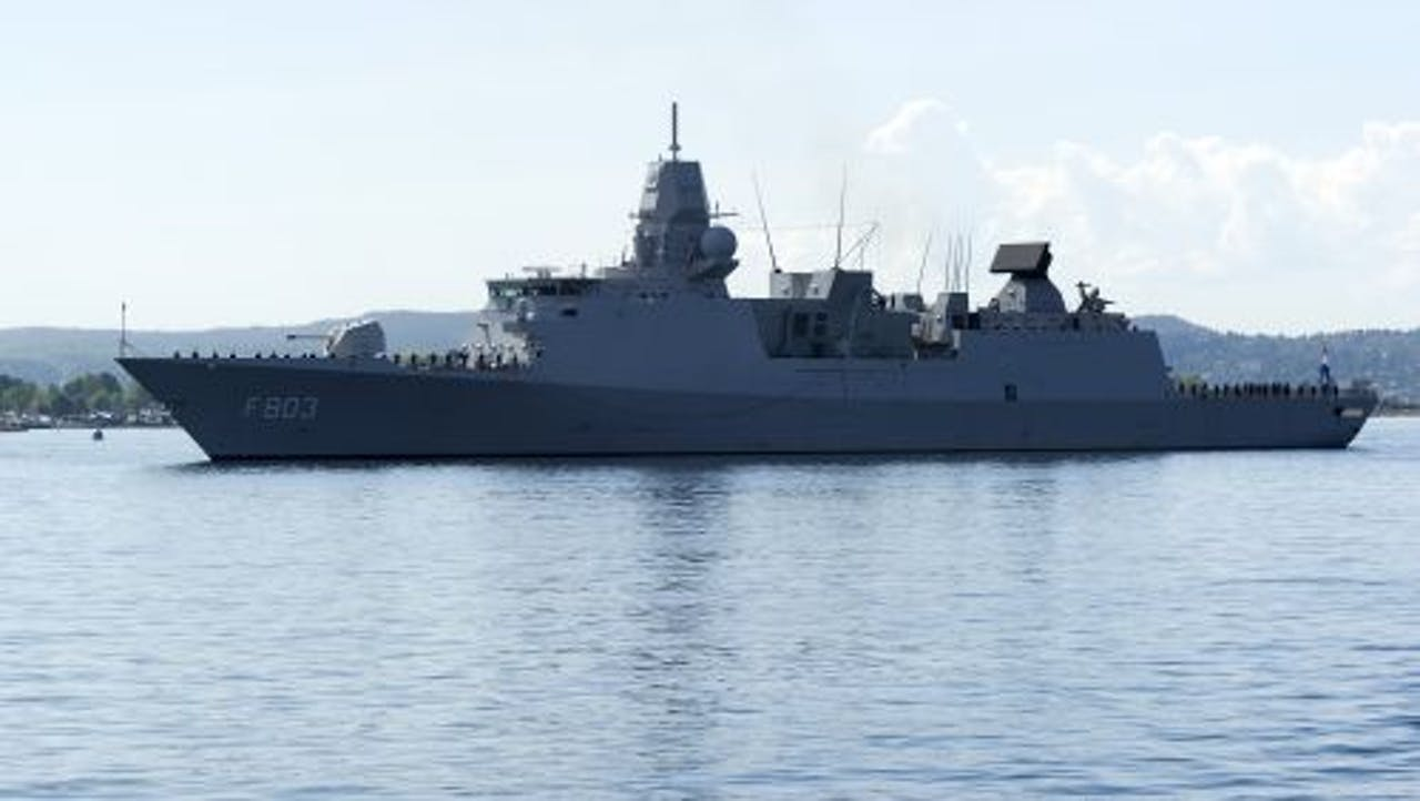 Het marinefregat Hr. Ms. Tromp. ANP