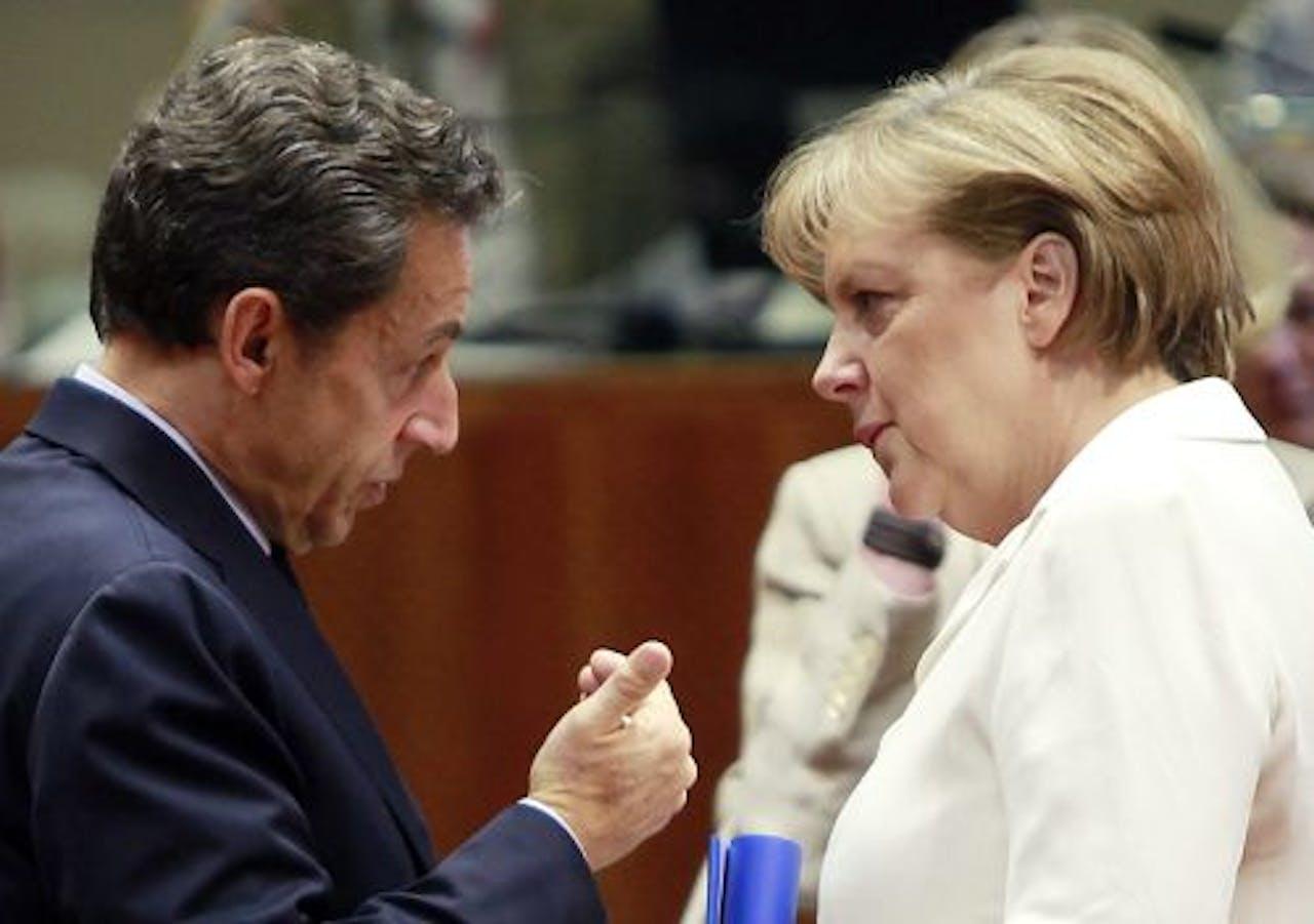 Angela Merkel en Nicolas Sarkozy. EPA