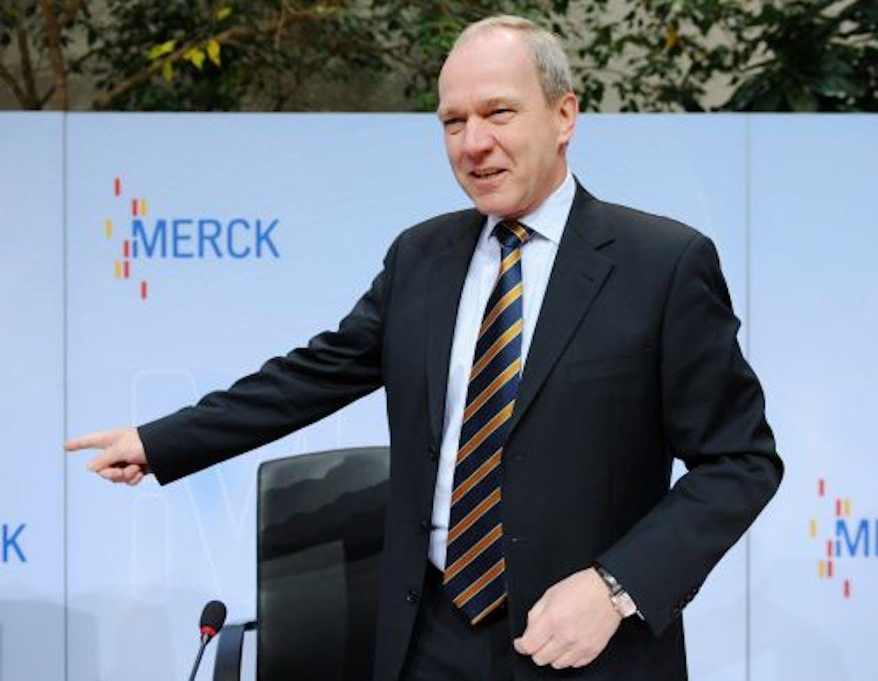 De CEO van Merck, Karl-Ludwig Kley. EPA