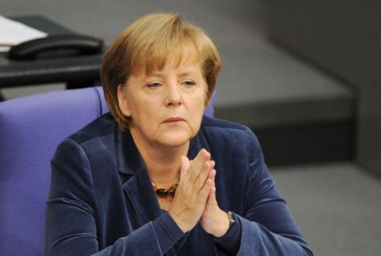 De Duitse bondskanselier Angela Merkel. EPA