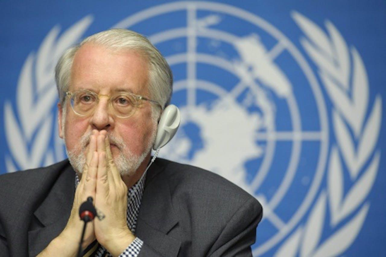 De Braziliaan Paulo Pinhiero, voorzitter van de VN-onderzoekscommissie. EPA