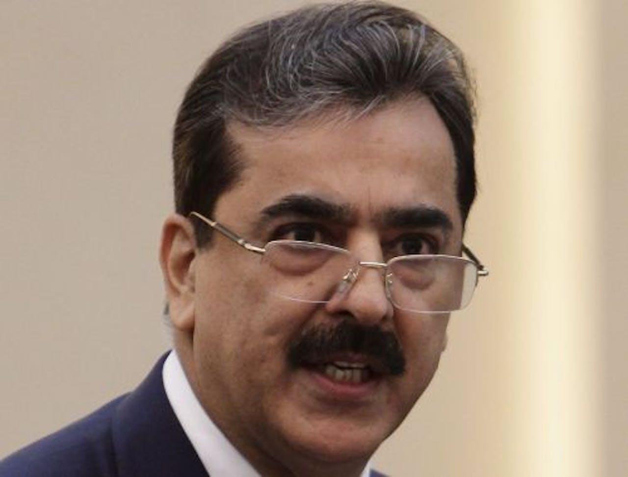 De Pakistaanse premier Yusuf Raza Gilani. EPA
