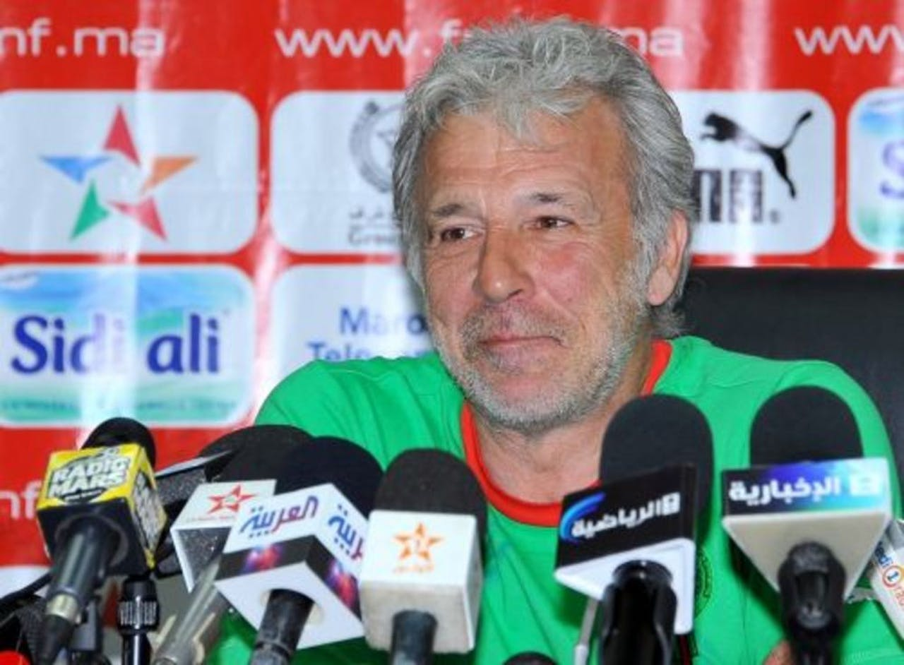 Eric Gerets, coach van het Marokkaanse elftal. EPA