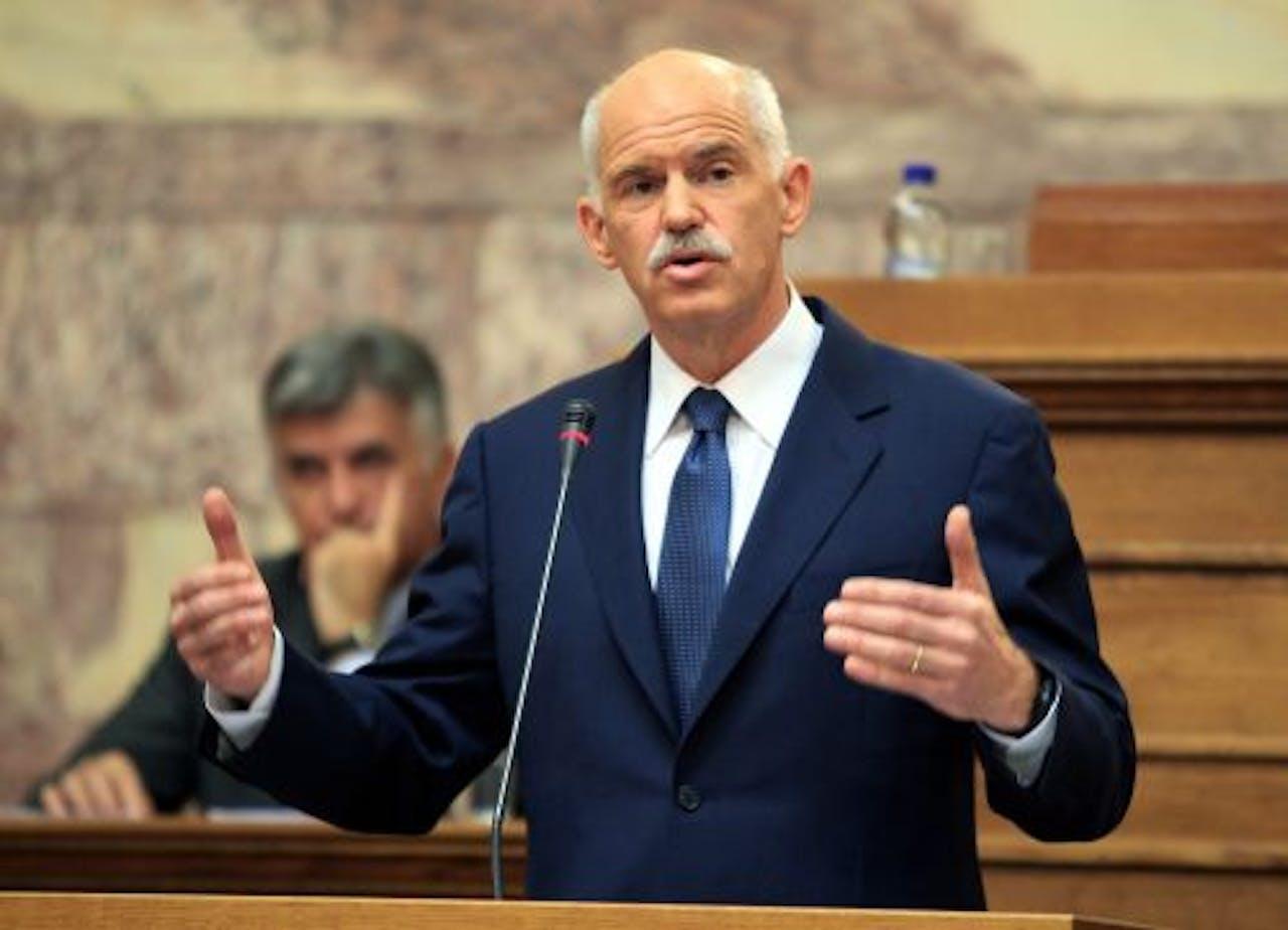De Griekse premier George Papandreou. EPA