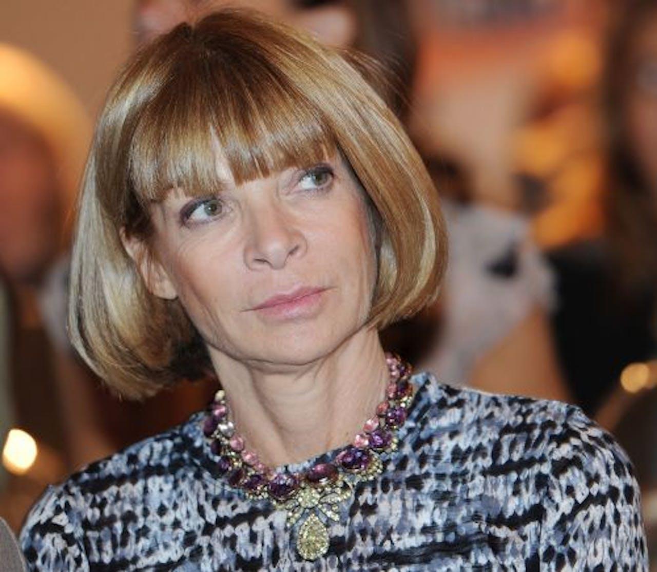 Anna Wintour, de hoofdredactrice van de Amerikaanse Vogue. EPA