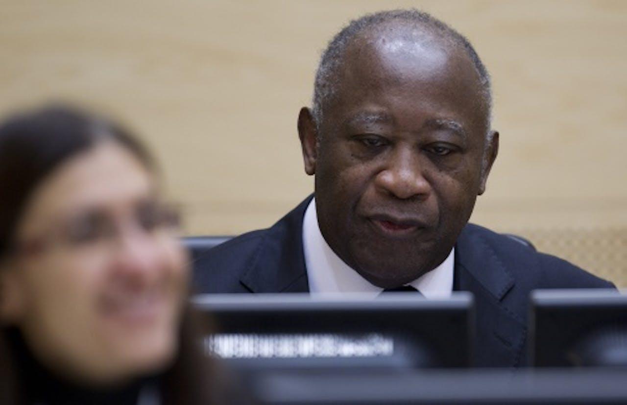 Laurent Gbagbo voor het Internationaal Strafhof in Den Haag. ANP