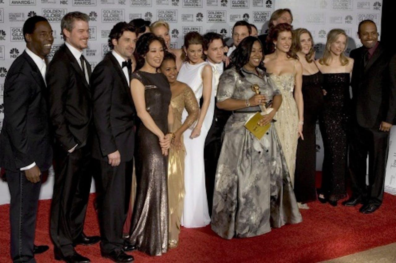 De cast van Grey's Anatomy in 2007. EPA