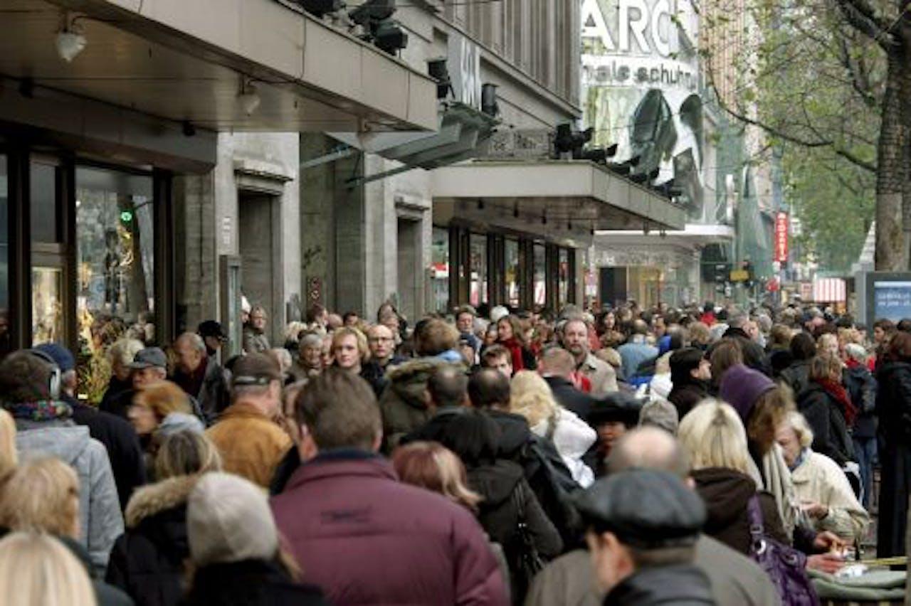 Een winkelstraat in Berlijn, Duitsland. EPA
