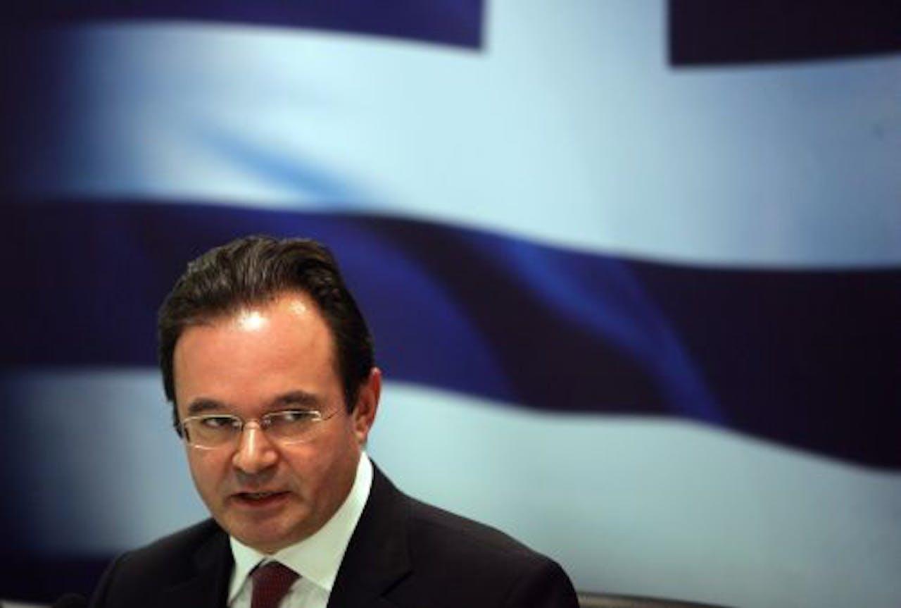 De Griekse minister van Financiën George Papaconstantinou. EPA