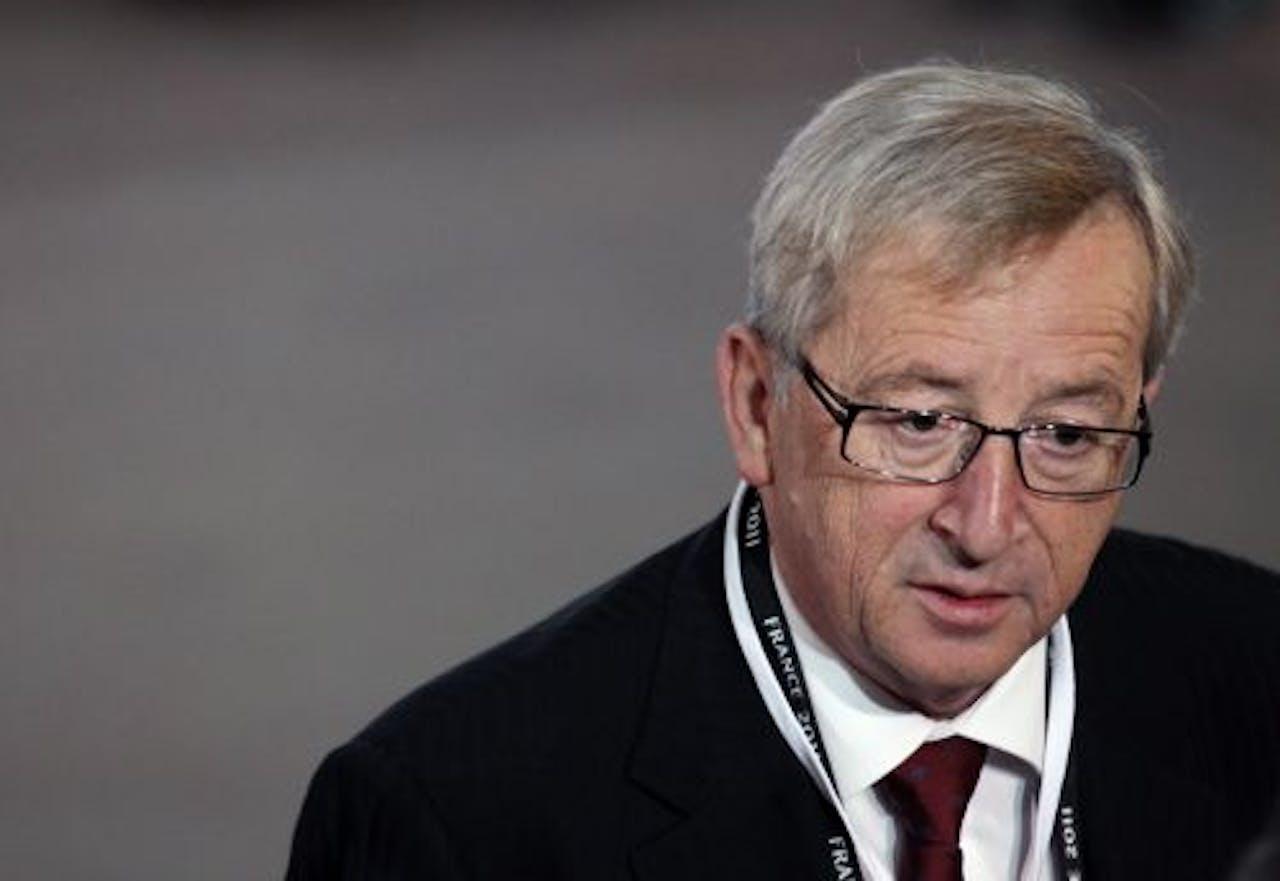 De voorzitter van de groep van ministers van Financiën van de eurolanden, Jean-Claude Juncker. EPA