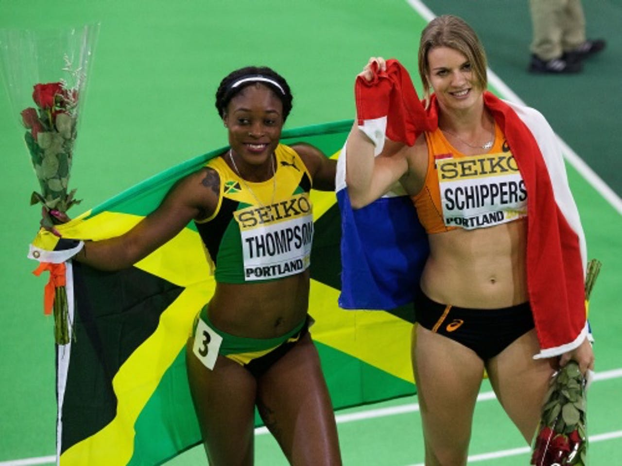 Elaine Thompson (L). ANP