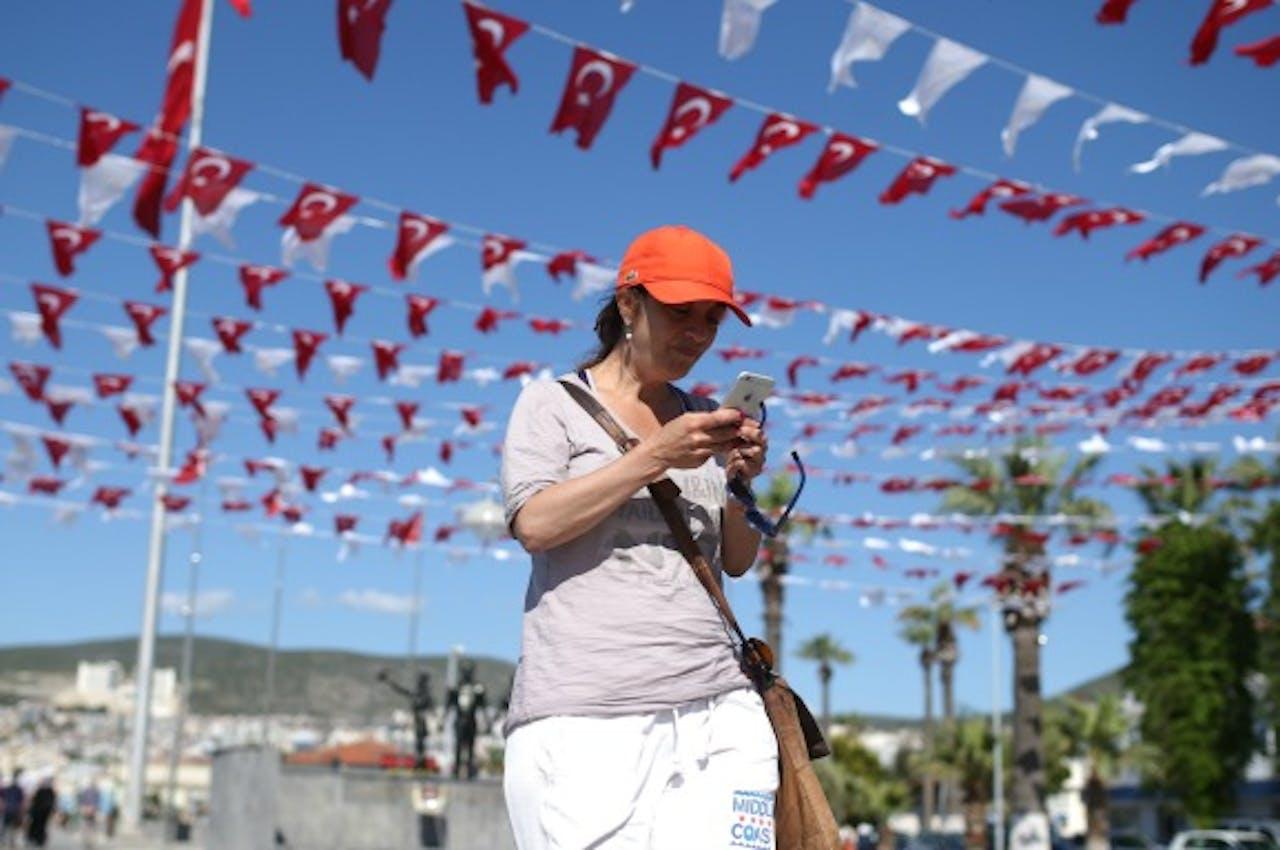 Columniste Ebru Umar eerder dit jaar in Turkije. Foto ANP