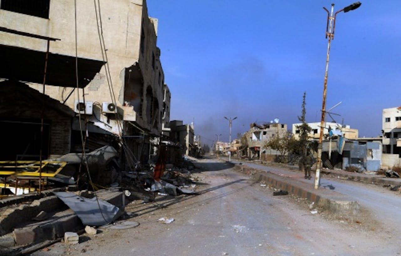 De straten van Damascus. EPA