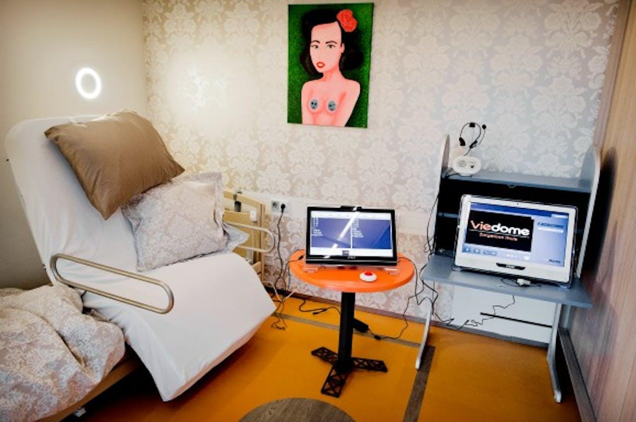 Een zorgwoning voor gehandicapten in Het Dorp, in Arnhem. Foto ANP