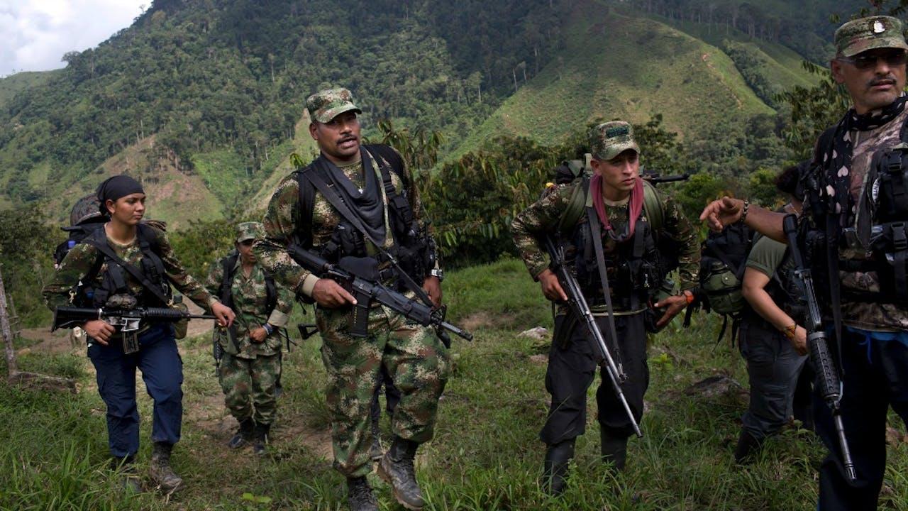FARC-strijders. Foto: Hollandse Hoogte/AP