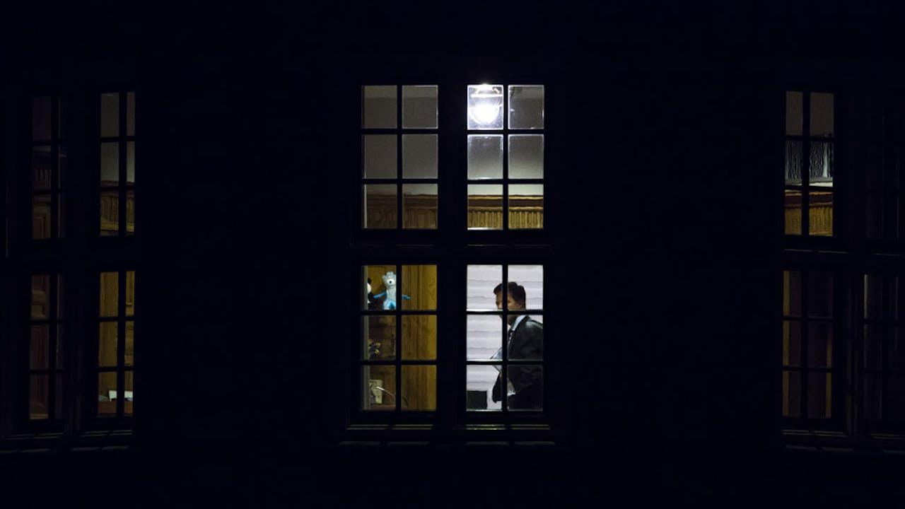 Minister President Mark Rutte in zijn torentje. Foto: ANP