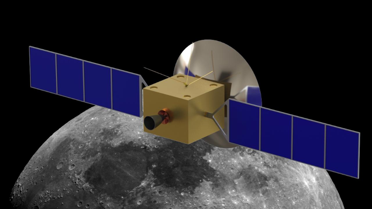 Drie kleine Nederlandse sprietjes op een Chinese satelliet die vanaf 2018 achter de maan zal vliegen (Illustratie uit het onderzoeksplan)