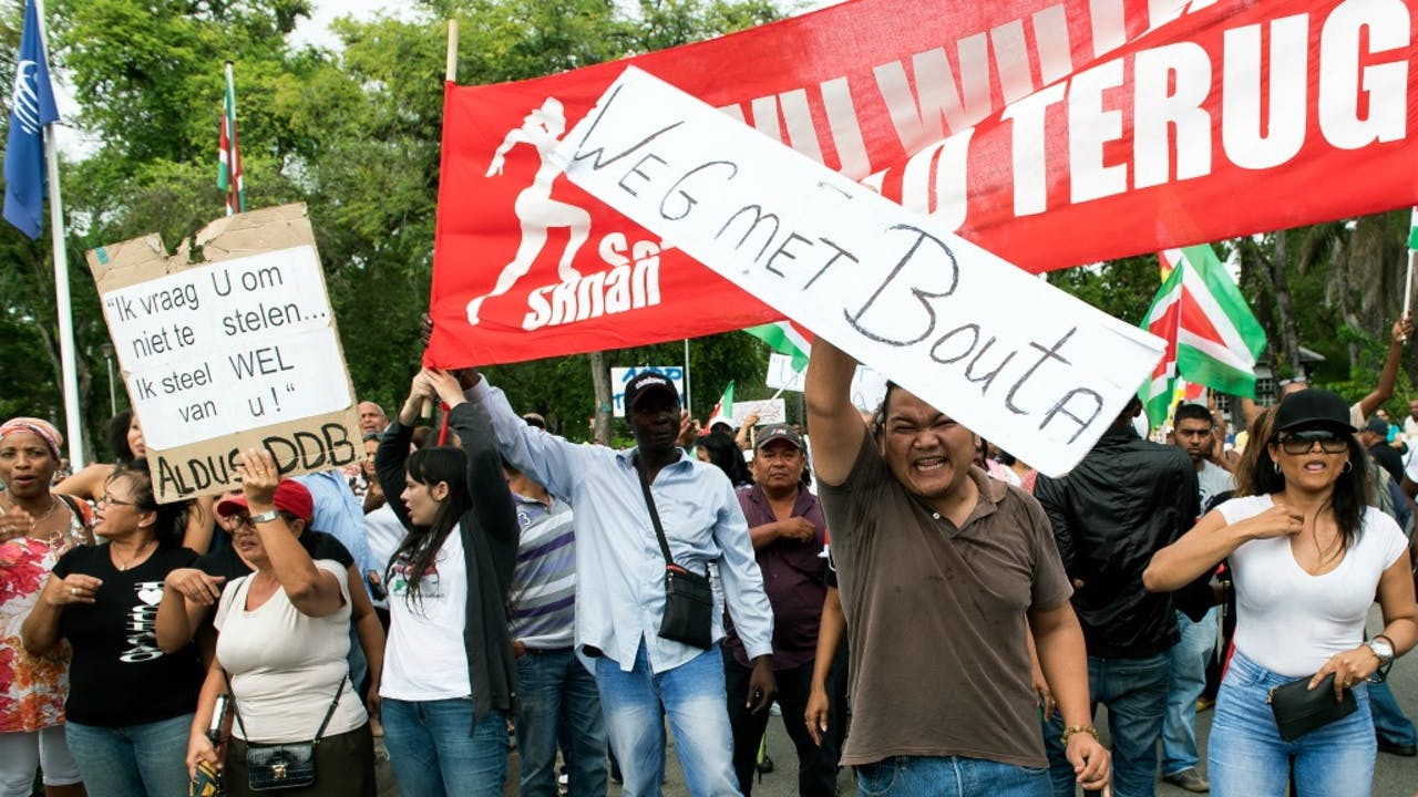 Foto: ANP - Demonstraties afgelopen vrijdagavond