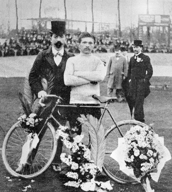 De Fransman Maurice Garin, winnaar van de eerste Tour de France in 1903, hier op een ongedateerde foto. Foto AFP