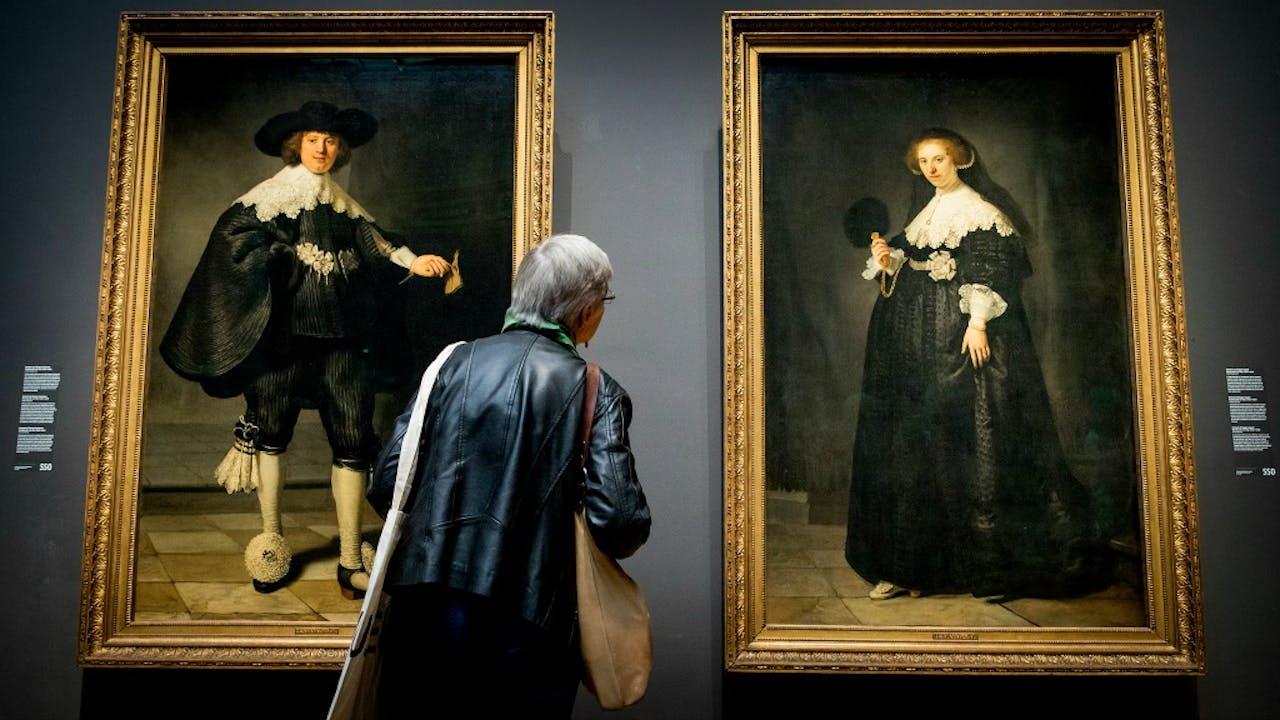 Ootjen en Marten in het Rijksmuseum. Foto: ANP