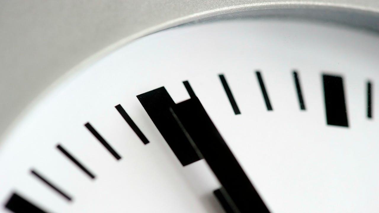 De tijd is nu. Foto ANP