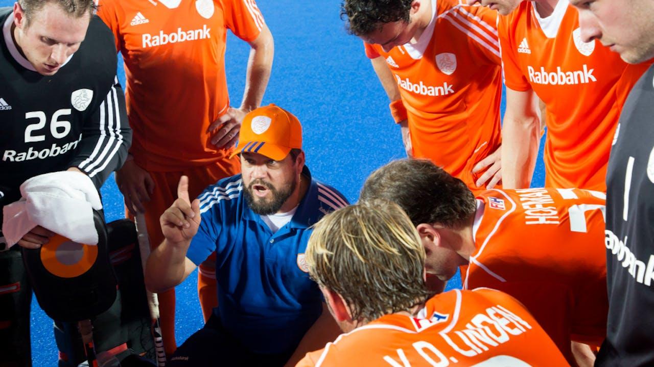 Max Caldas, sinds 2014 coach van de hockeyheren.