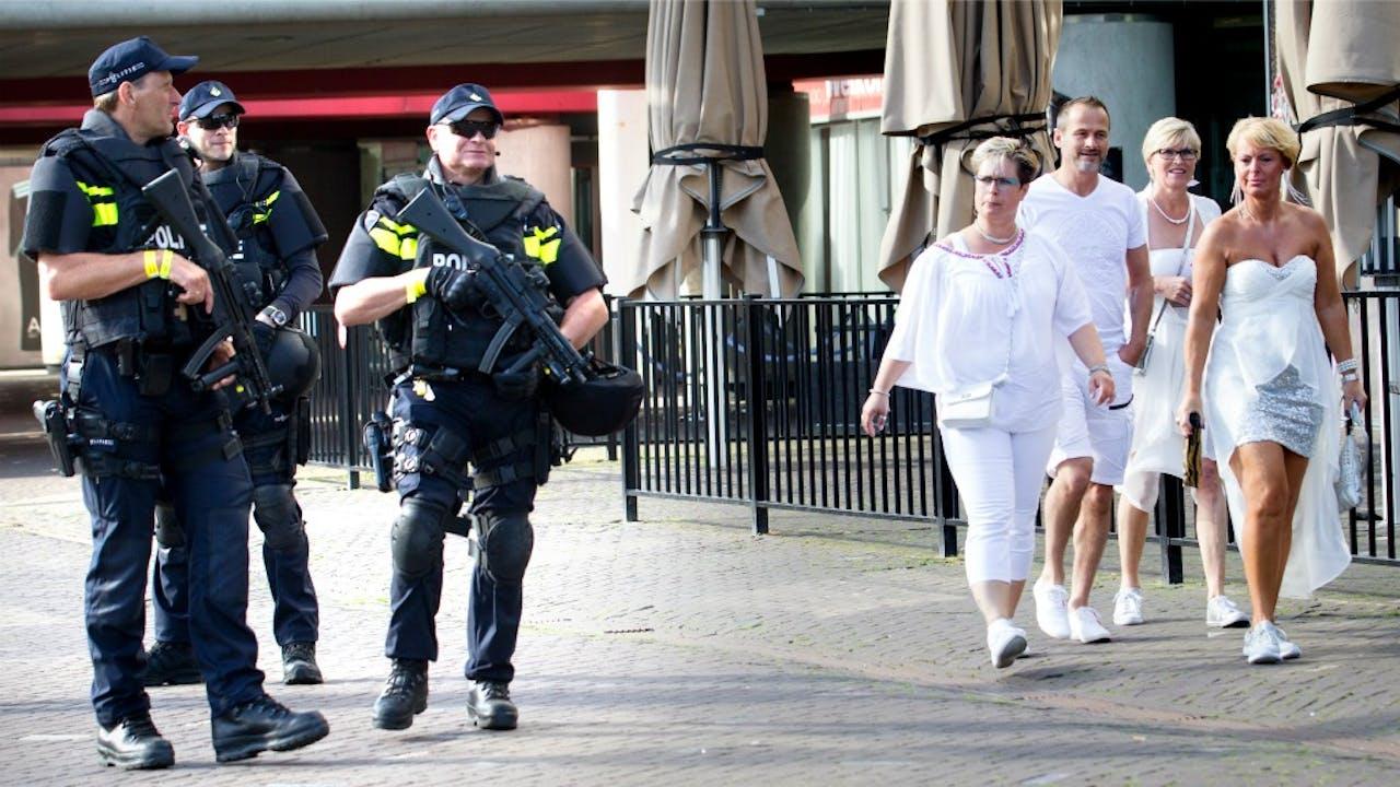 Extra veiligheidsmaatregelen bij Sensation, eerder deze maand. Foto: ANP