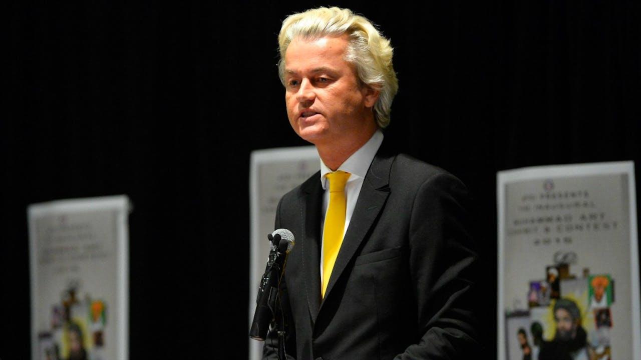 Geert Wilders tijdens het congres in 2015. Foto: ANP/EPA