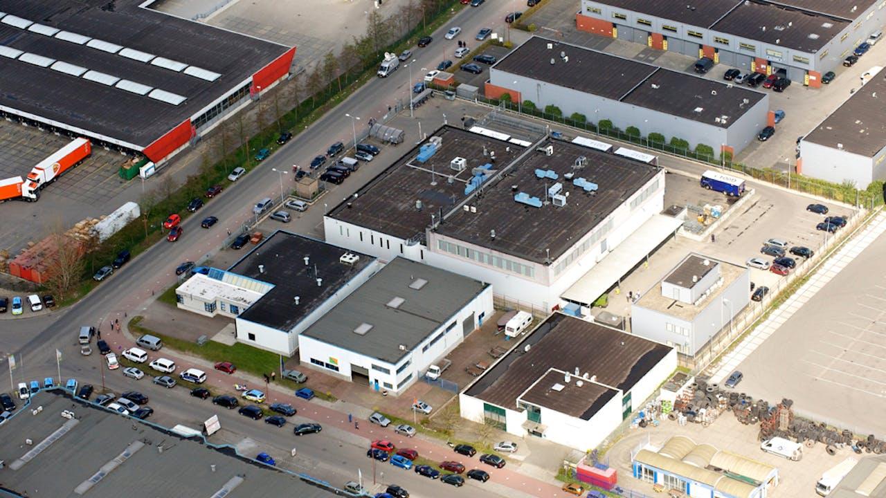 Een bedrijventerrein in Nijmegen.