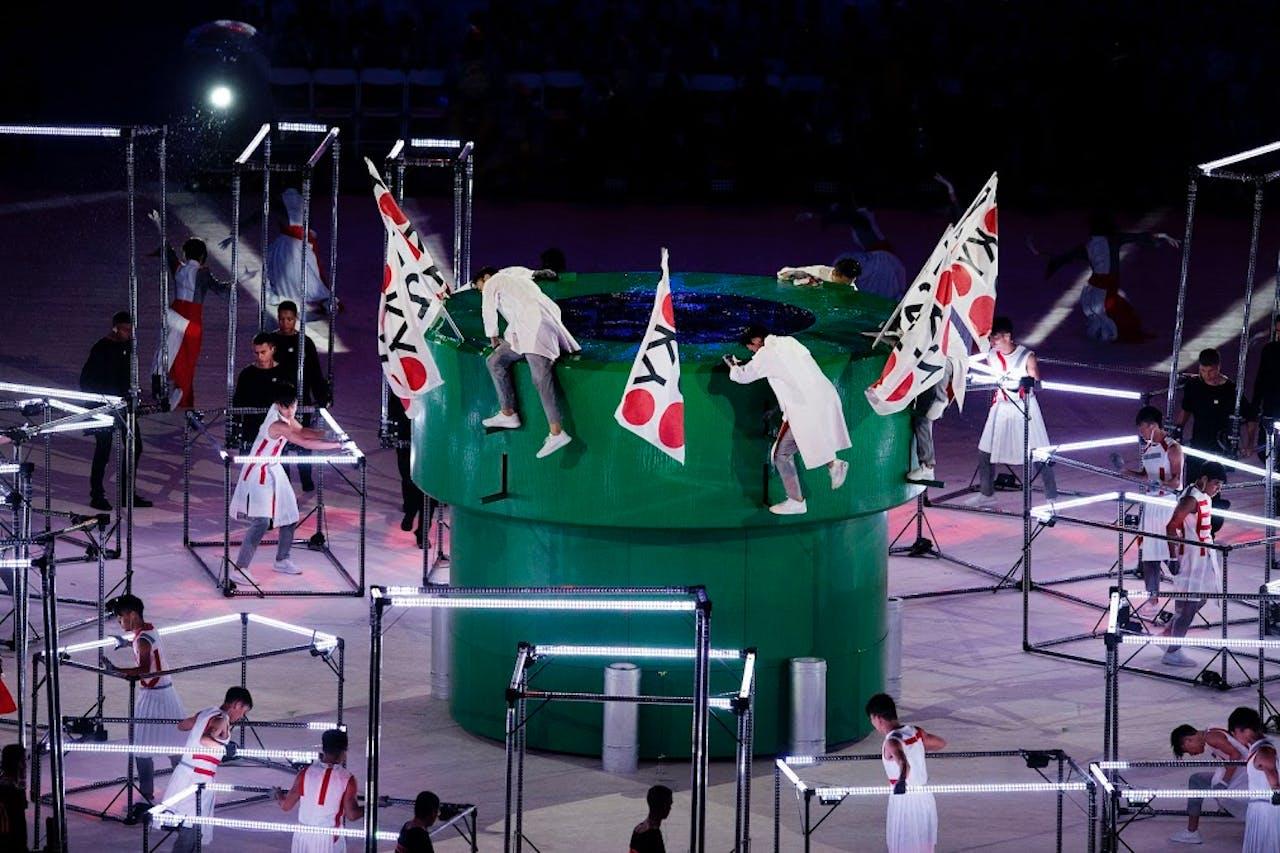 Een Mario-tunnel op het podium in Rio
