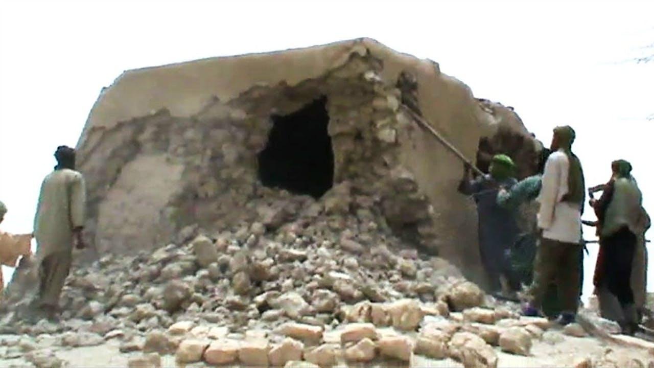 Videobeeld van de vernieling. Foto: ANP/AFP