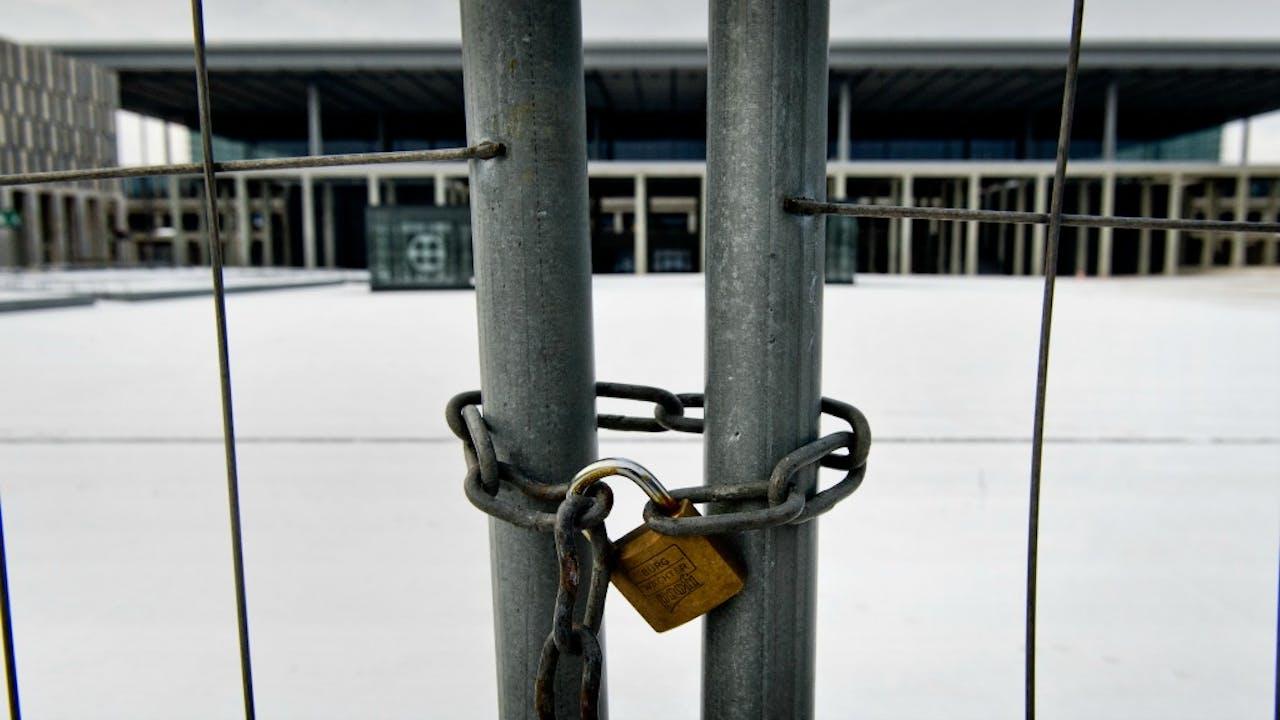 Het vliegveld is nog steeds niet geopend. Foto: ANP