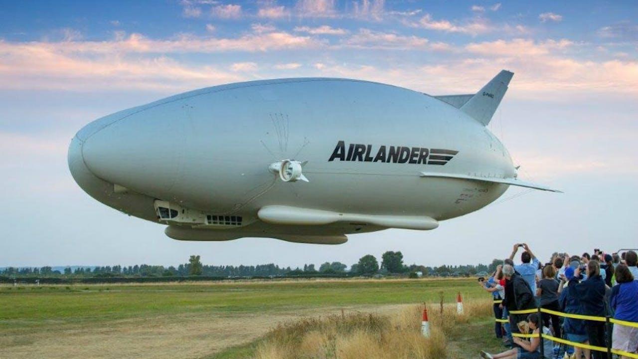 De Airlander 10 vorige week tijdens de eerste testvlucht. Foto ANP