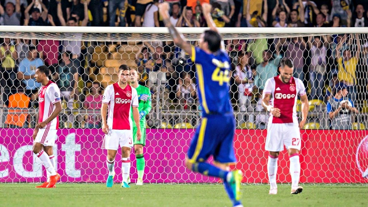 Een deceptie voor Ajax in Rostov, waar het kansloos met 4-1 verloor. Foto ANP