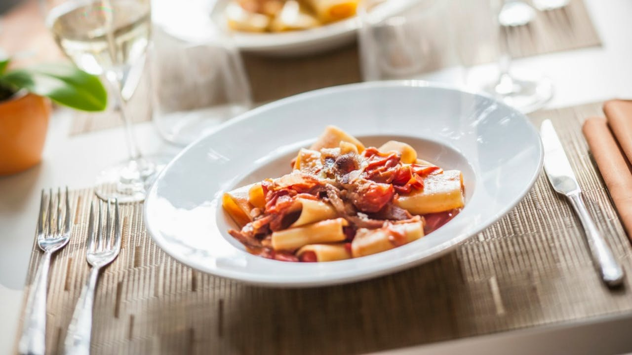 Pasta all'Amatriciana. Foto: HH/Imagerie