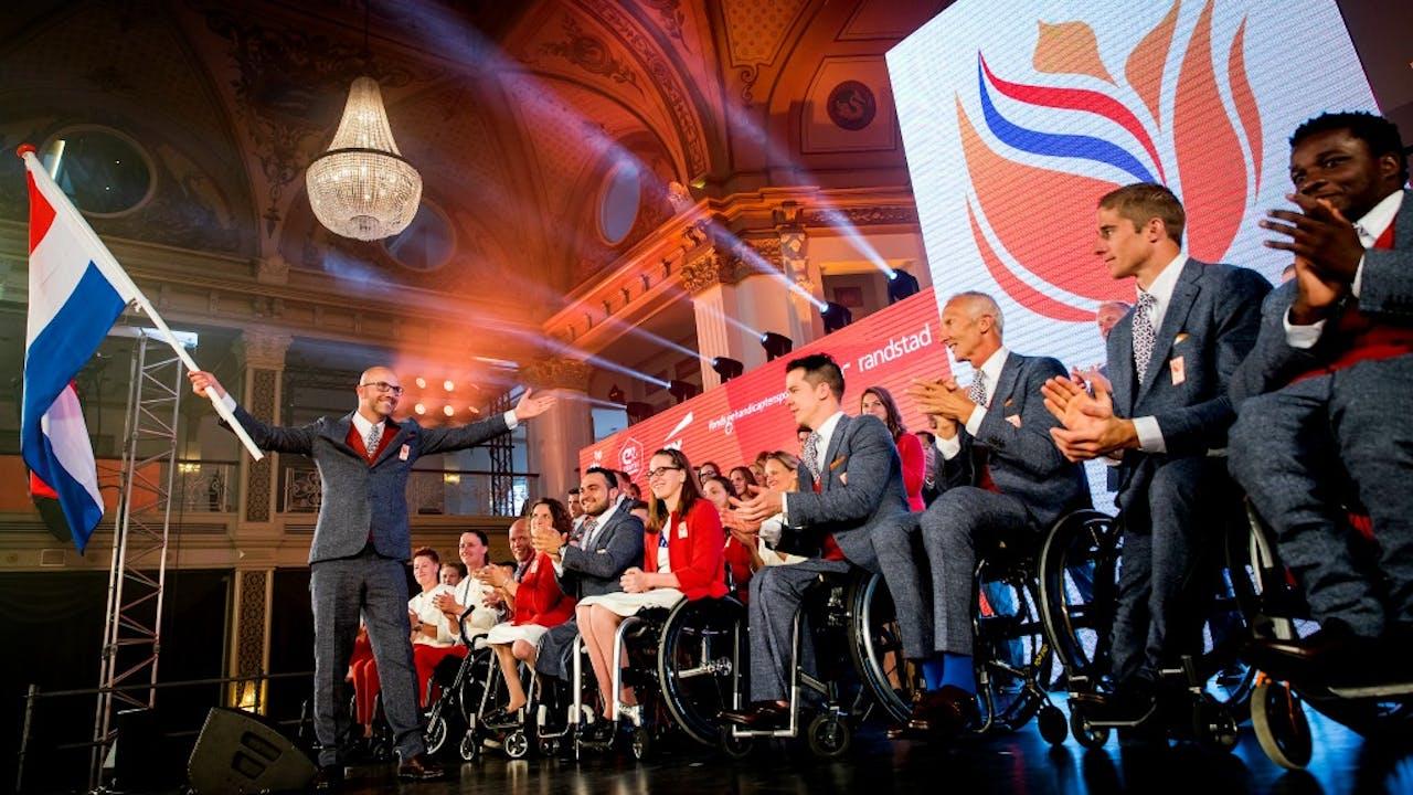 De Paralympische ploeg. Foto: ANP