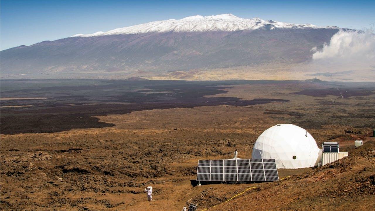 De simulatiekoepel op Hawaï. Foto: ANP/AFP
