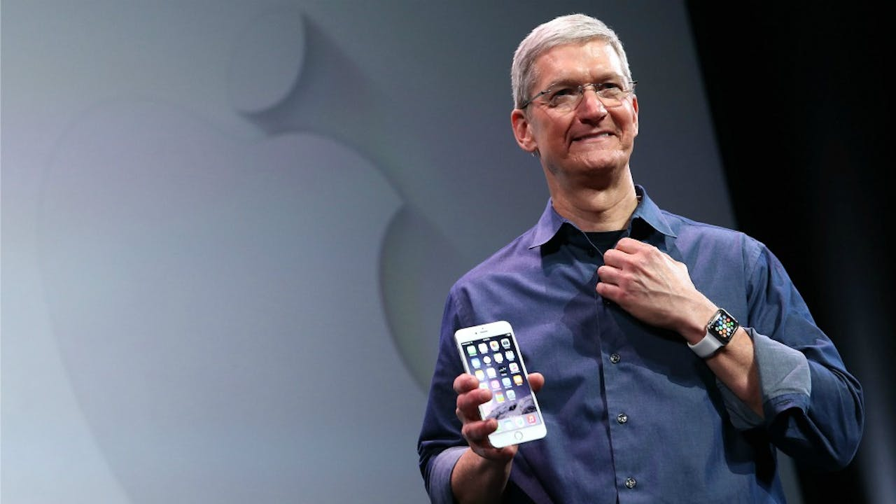 TIm Cook, CEO van Apple Inc. Foto: ANP/AFP