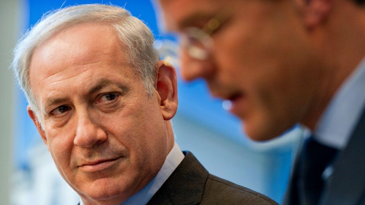 Netanyahu en Rutte tijdens een bezoek van de Israëlische premier aan Nederland in 2012. Foto: ANP