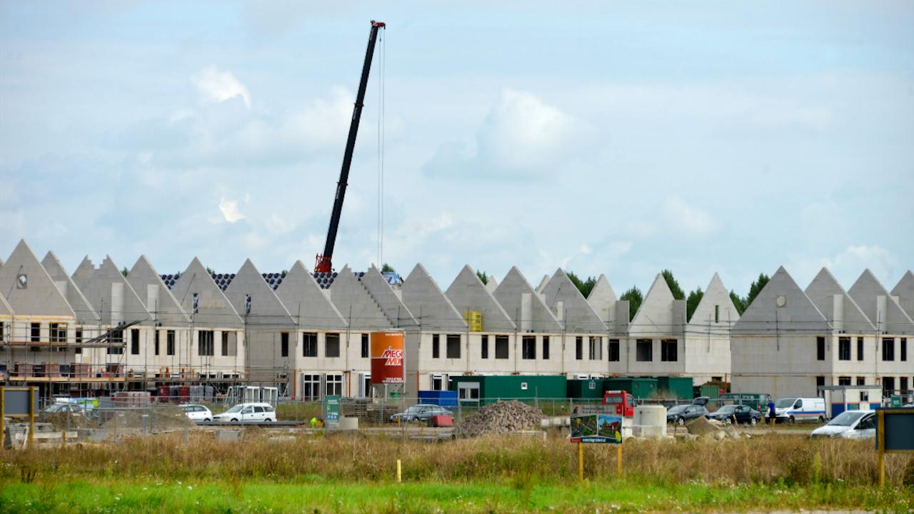 Woonwijk in aanbouw (Foto: Hollandse Hoogte)
