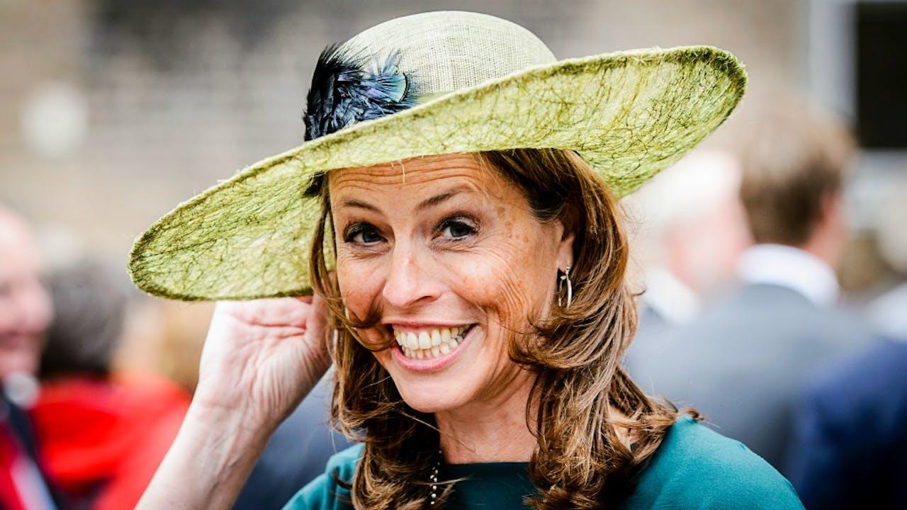 Arabiste en D66-lid Petra Stienen met hoed op Prinsjesdag 2016. Foto ANP