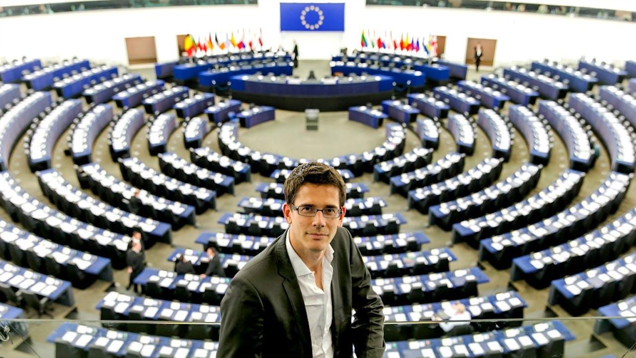 Bas Eickhout (GroenLinks) in het Europees Parlement. Foto ANP