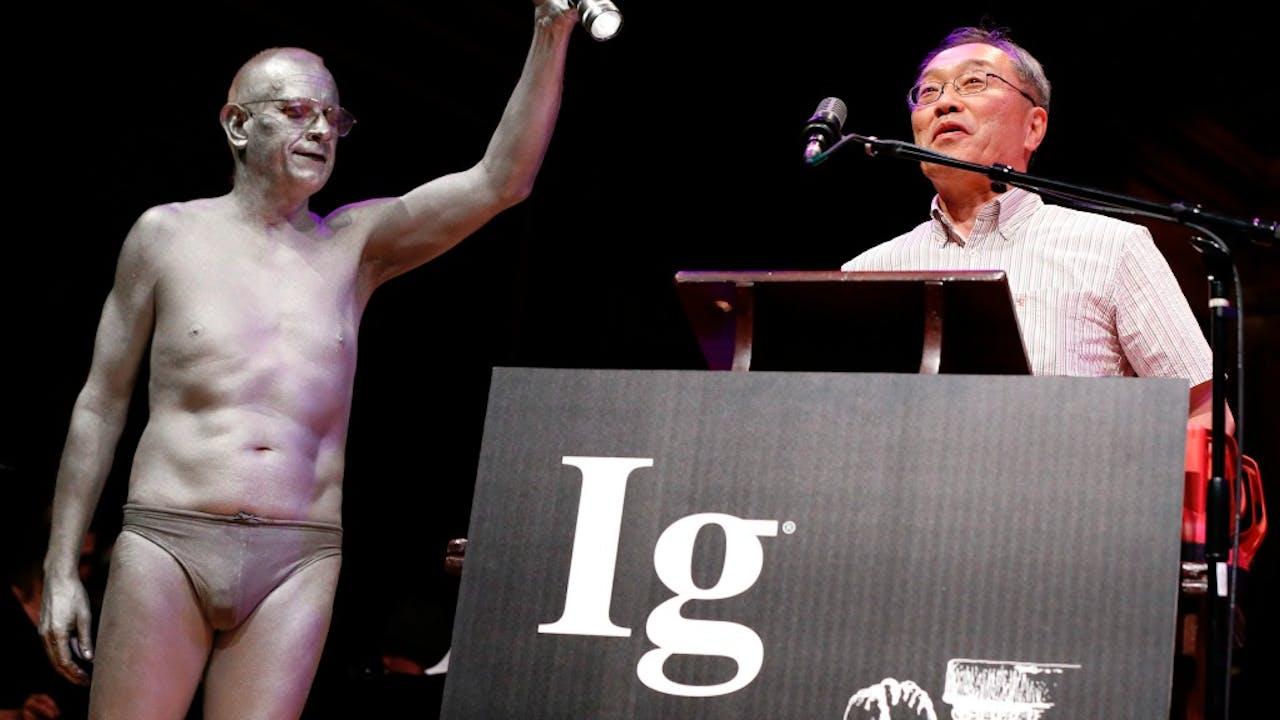 De bijzondere prijsuitreiking van de Ig Nobelprijs. Foto: HH / Michael Dwyer.