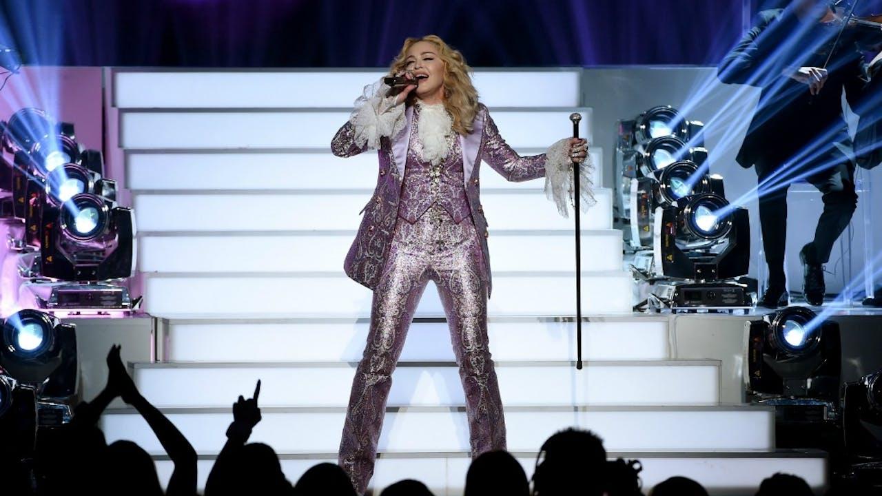 Madonna, al jaren een uitgesproken tegenstander van illegaal downloaden. Foto: ANP/AFP