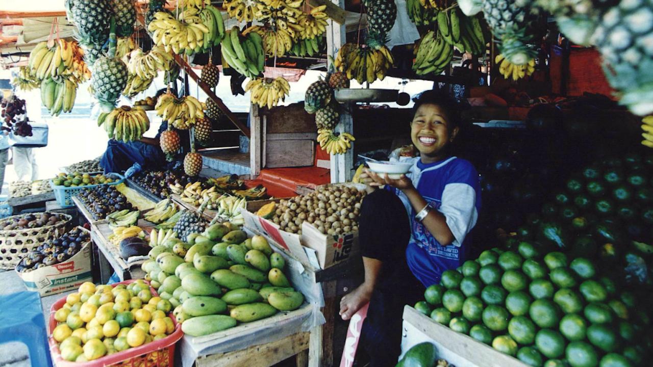 Markt in Ambon (Foto: ANP, 1995)