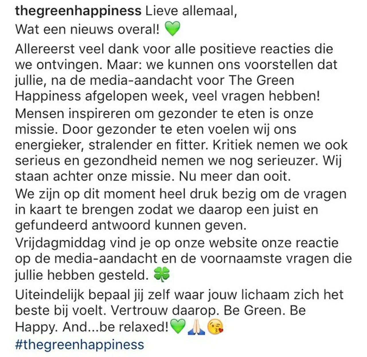 Bron: Instagrampagina van @thegreenhappiness