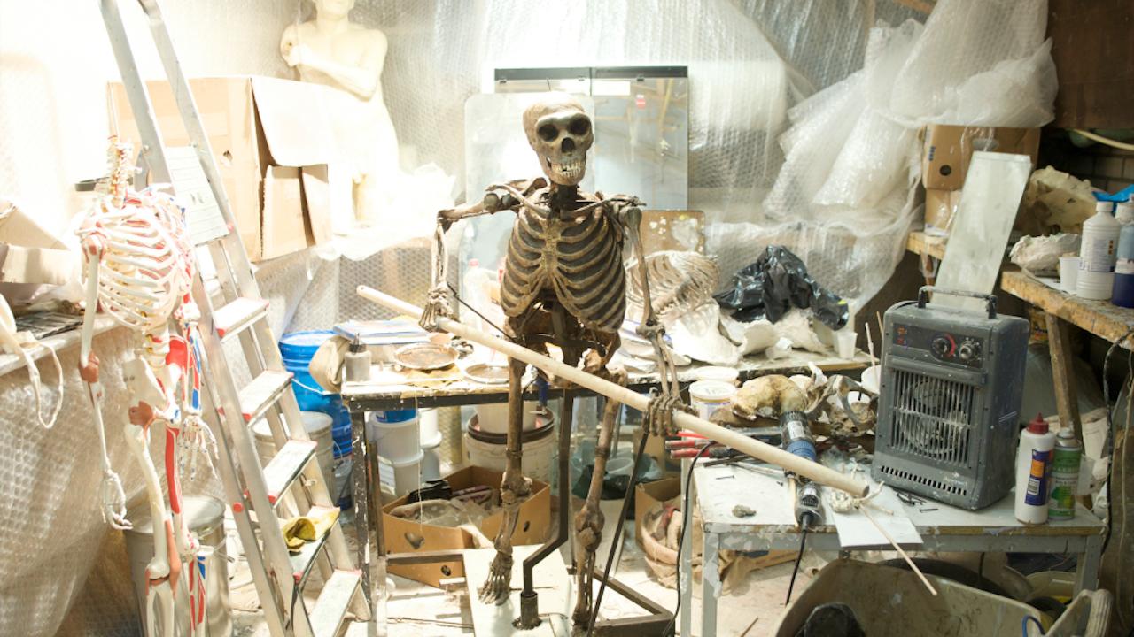 Reconstructie van een Neanderthaalse (Foto: Jochem Wijnands/Hollandse Hoogte)