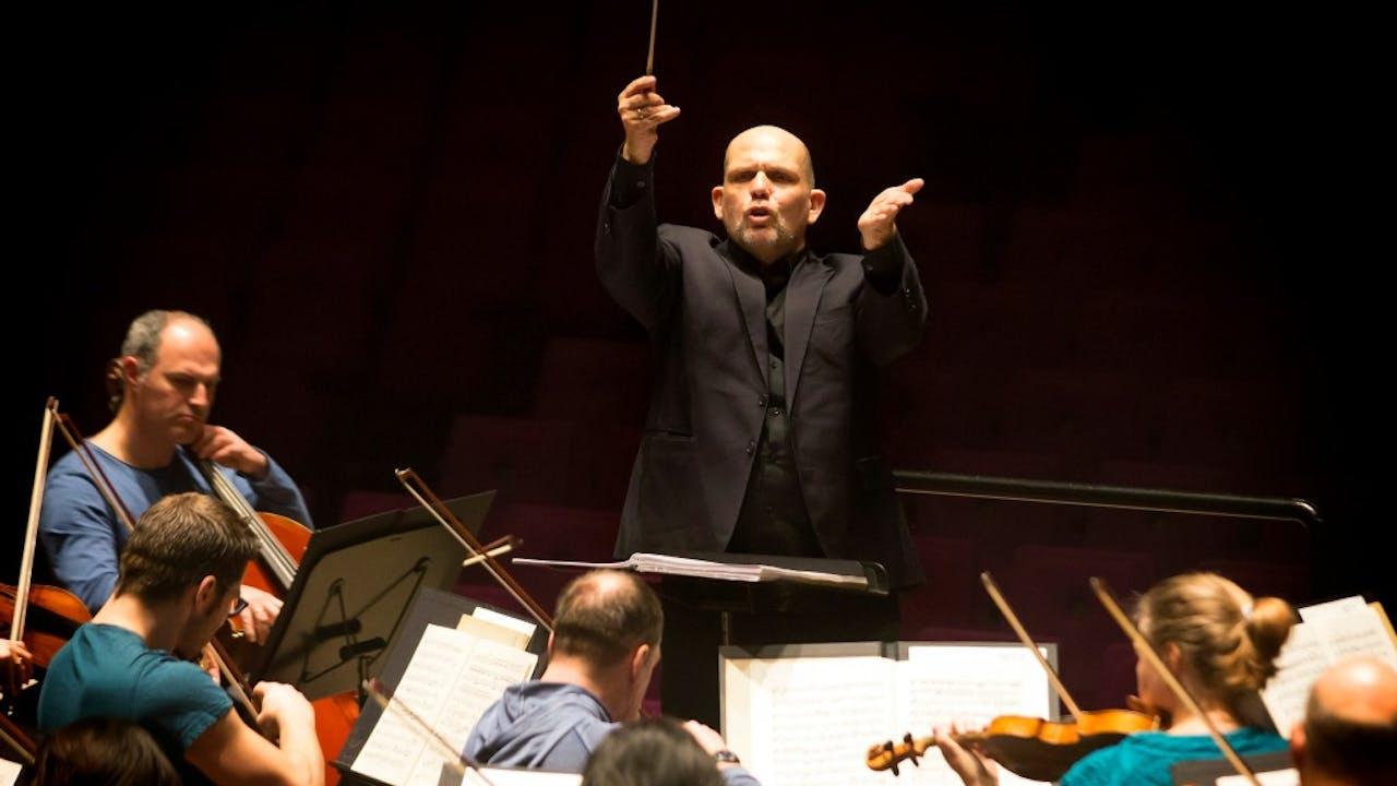 Het Rotterdams Philharmonisch Orkest, met dirigent Jaap van Zweden aan het roer. Foto ANP