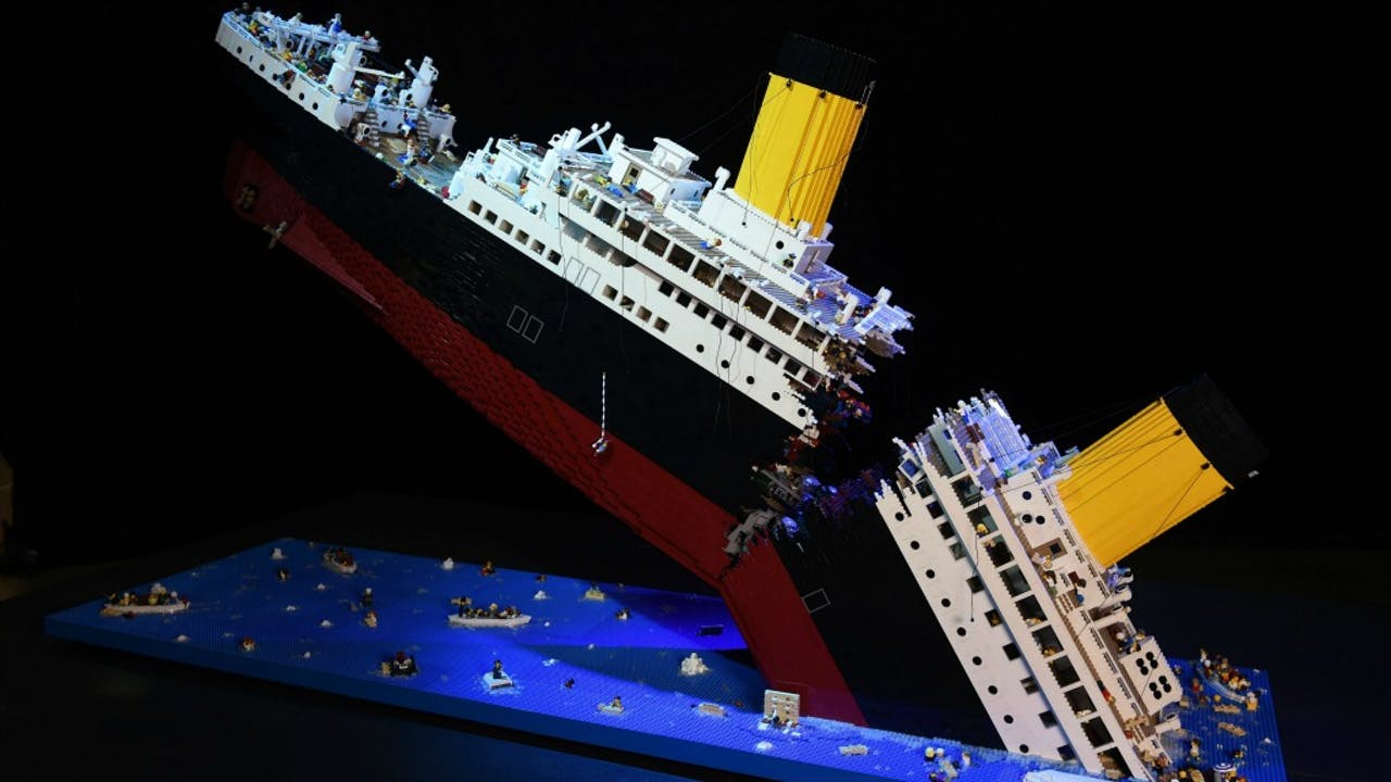 De Titanic, in bange Lego-dagen. Foto ANP